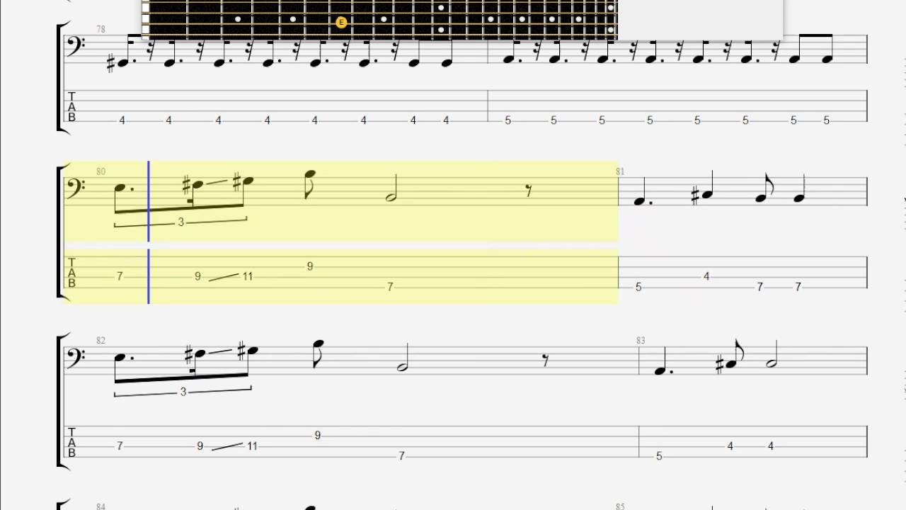 Cars, The Just What I Needed BASS GUITAR TAB - YouTube