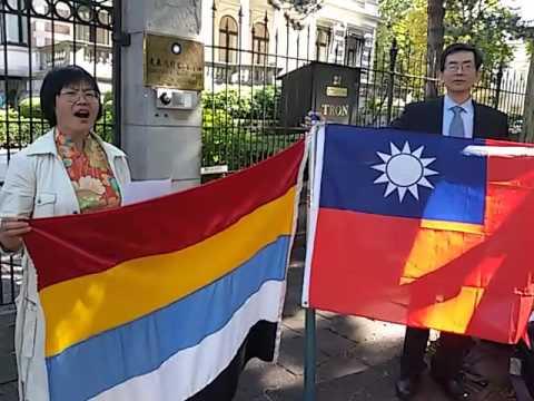 20150911 汤志敏申领中华民国护照 演唱《中华民国颂》