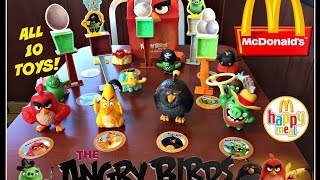 The ANGRY BIRDS Movie MCDONALDS Happy Meal Toys! May 2016 All 10 Toys!