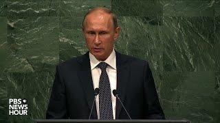 Russian President Putin's full address to United Nations