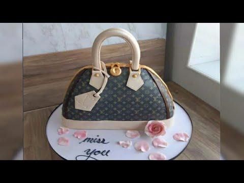 How To Make Louis Vuitton Bag Cake(Beginners Tutorial)