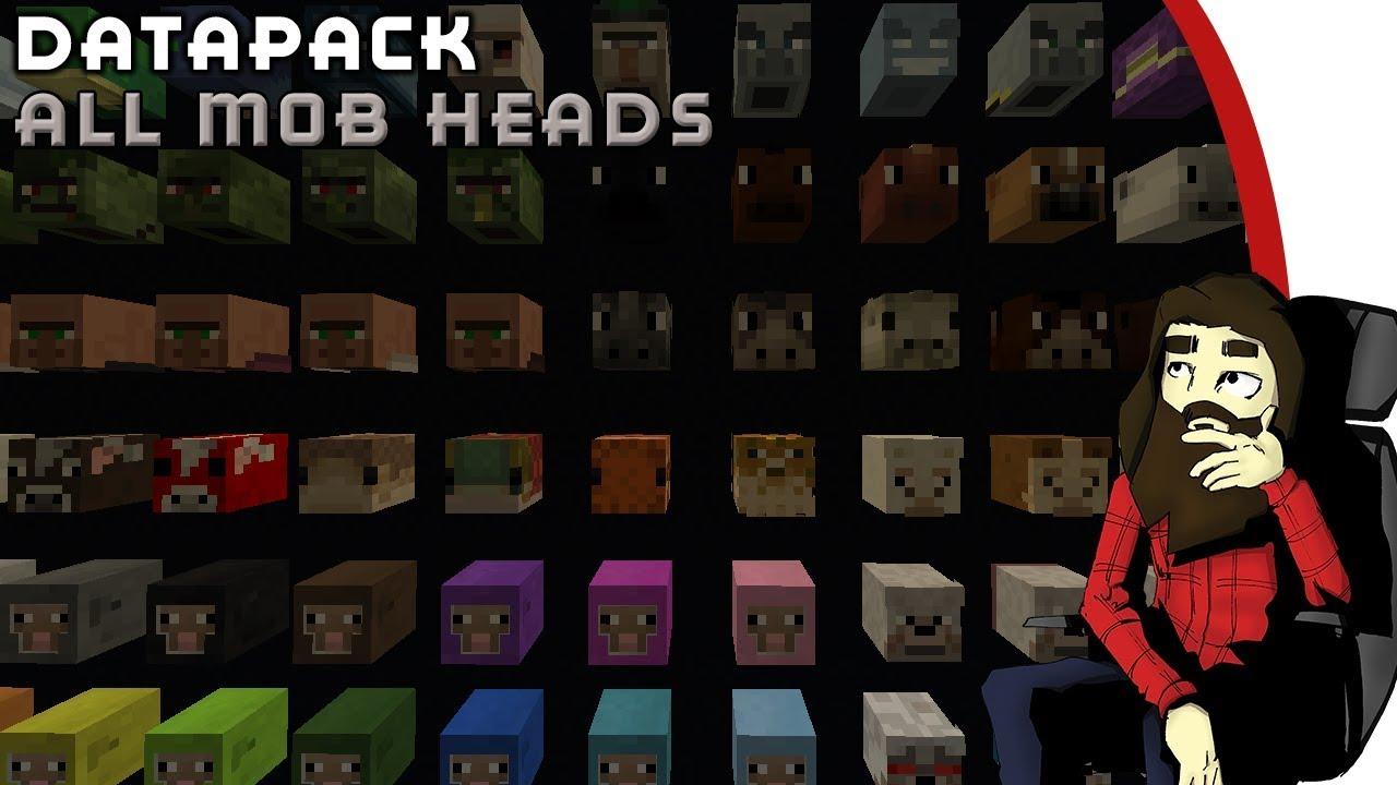 minecraft datapack 1 13 all mob heads