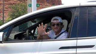 When Casey Drives his Tesla through your Town.