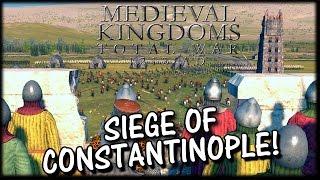 SIEGE OF CONSTANTINOPLE! Medieval Kingdoms 1212AD Total War Mod Gameplay!