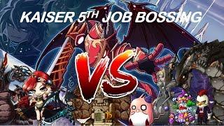 Maplestory Kaiser 5th Job bossing #2 [22 BOSSES]