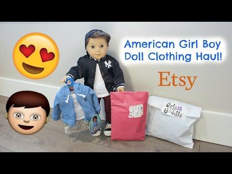 American Girl Logan BOY Doll Clothing HAUL Opening 👦🏻