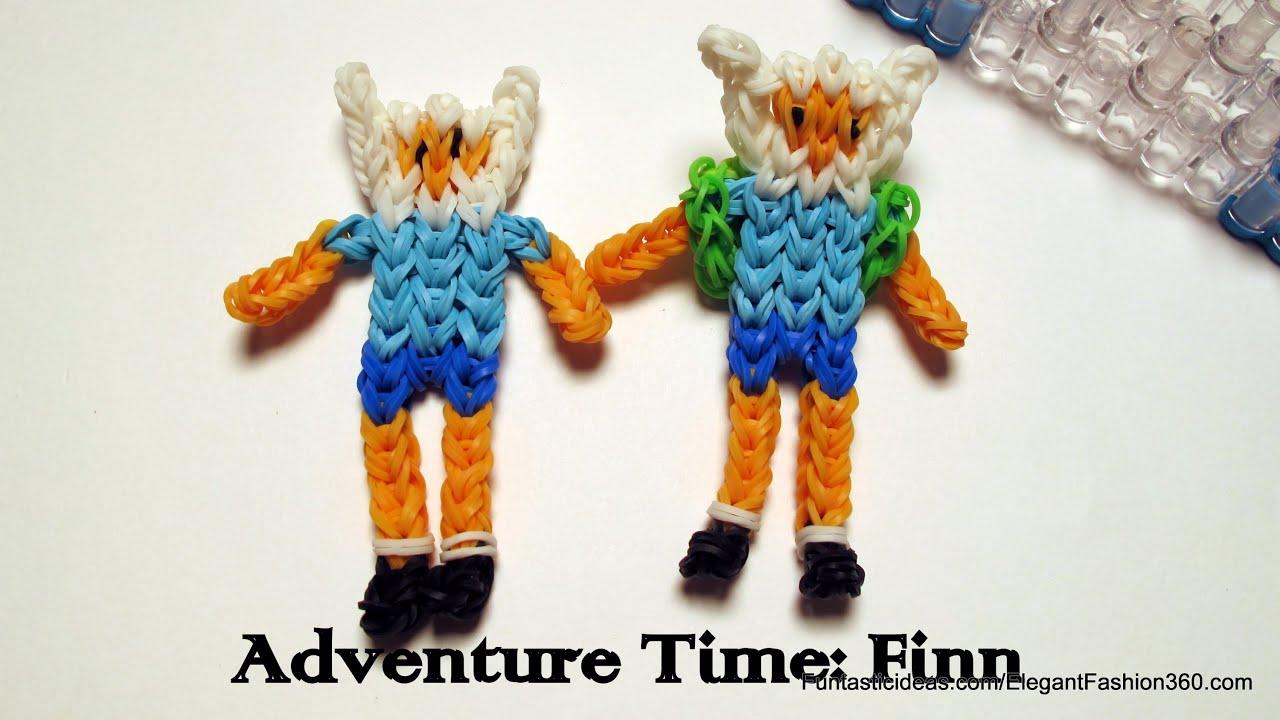 Adventure Time Finn Action Figurecharacter How To Rainbow Loom
