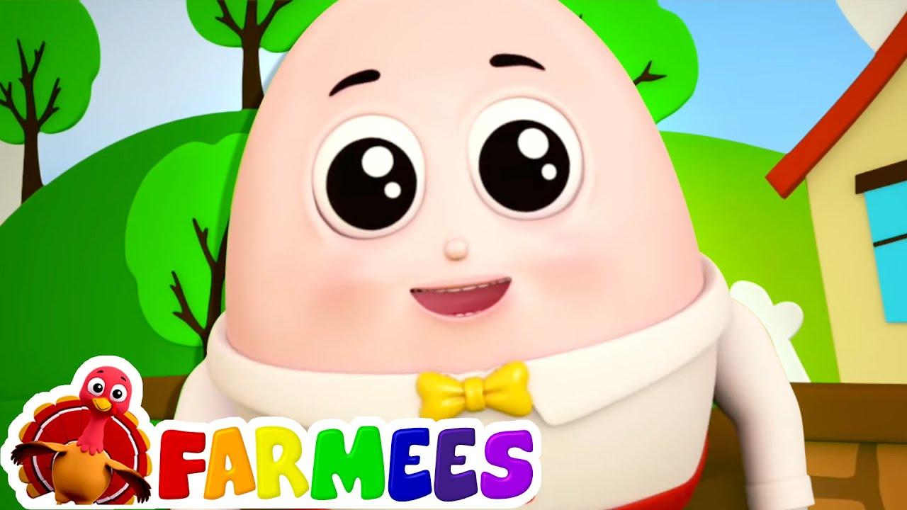 Humpty dumpty duduk di dinding | Kartun untuk anak | Farmees Indonesia | Video edukasi anak