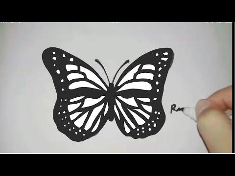 How To Draw Butterfly Cok Kolay Kelebek Cizimi Kolay Resimler