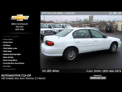 Used 2002 Chevrolet Malibu | Automotive Co-op, New Haven, CT - SOLD