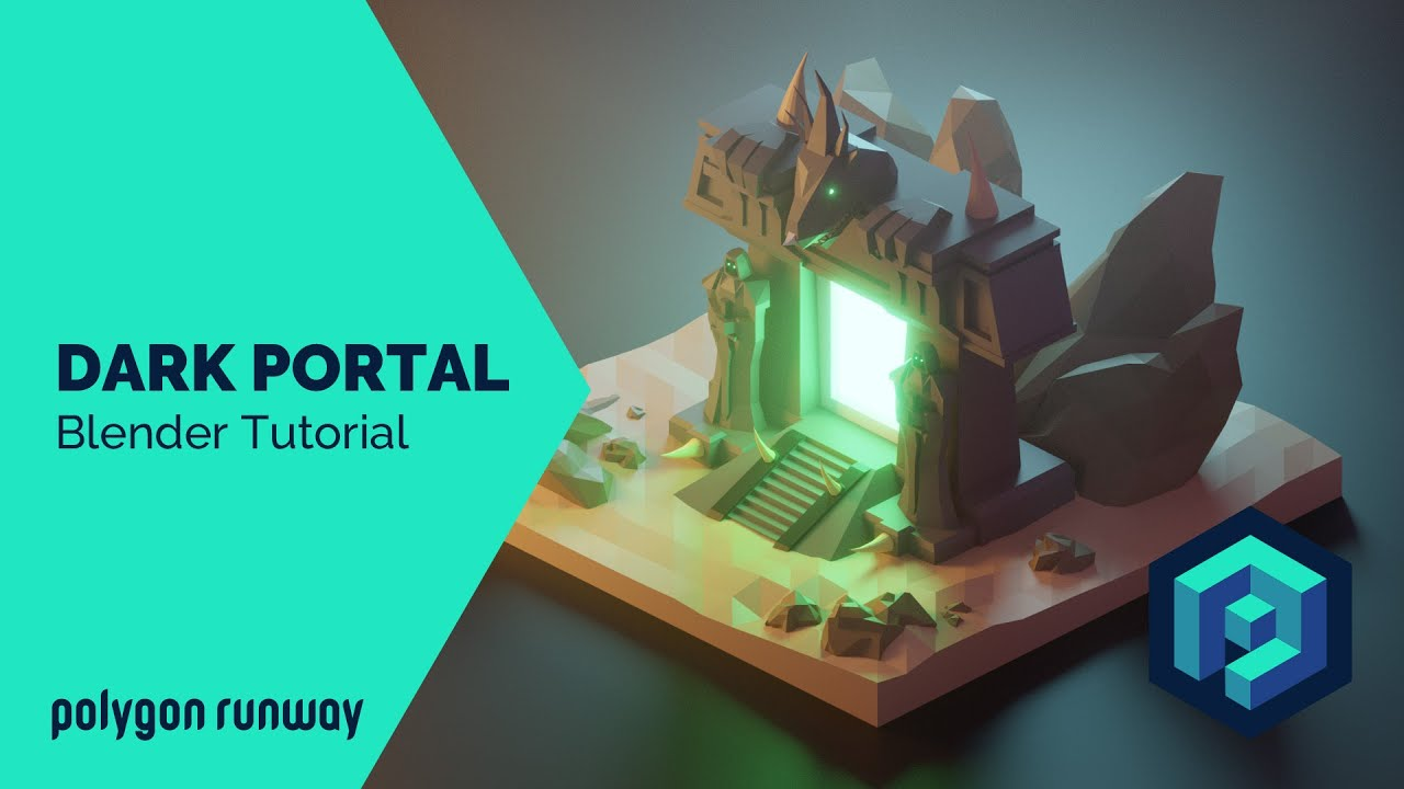 Dark Portal - Blender 2.8 Low Poly 3D Modeling Tutorial