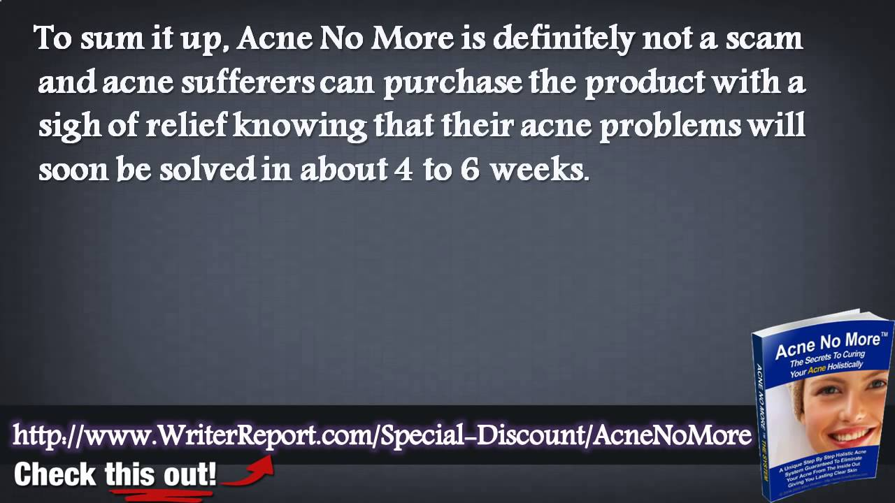Acne No More Full Book