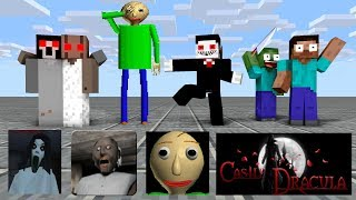 Monster School : HORRORS SEASON 1 - Minecraft Animation