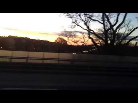Driving into Stockholm city centre during rush hour (HD)
