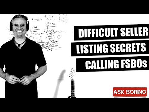 Handling Difficult Seller, Listing Secrets, Calling FSBOs - Borino Real Estate Coaching