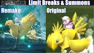 Final Fantasy VII Remake Summons & Limit Breaks - FF7 Remake vs Original Update