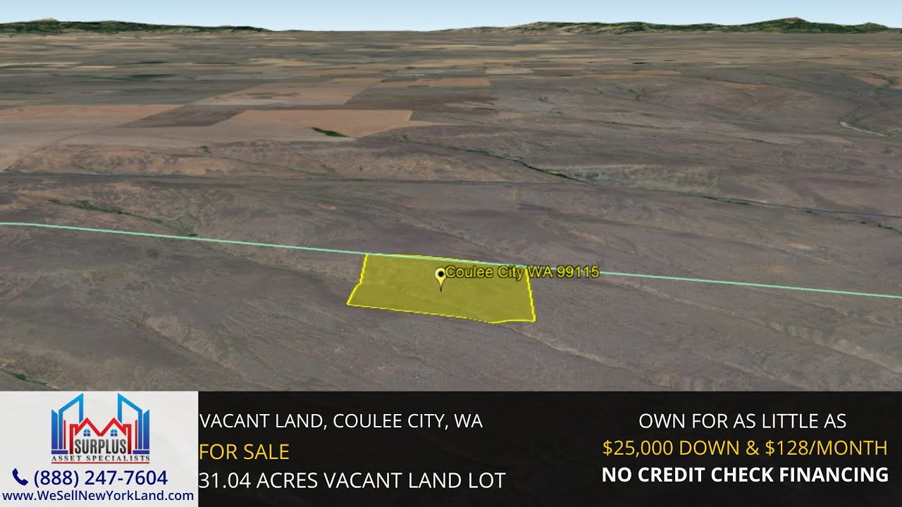 Vacant Land, Coulee City, WA Wholesale Land For Sale  - www.WeSellNewYorkLand.com