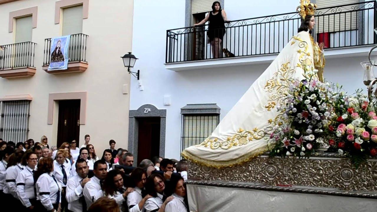 Procesion Virgen De La Natividad Aceuchal 2014 Youtube