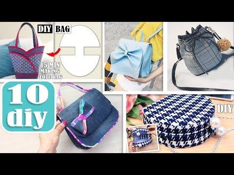 10 AWESOME DIY BAG TUTORIALS // Cut & Sew Purse Bag Designs Making During 25 MIN