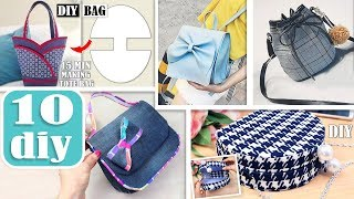 10 AWESOME DIY BAG TUTORIALS  …
