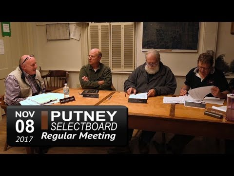 Putney Selectboard Mtg 11/8/17