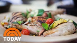 Grilled chicken and veggie paella: katie lee's simple summer dish | today