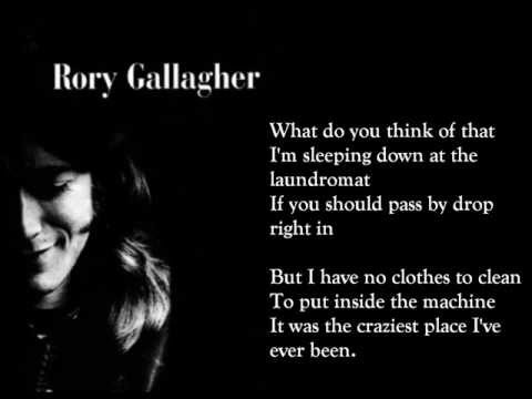 Laundromat - Rory Gallagher (lyrics on screen)