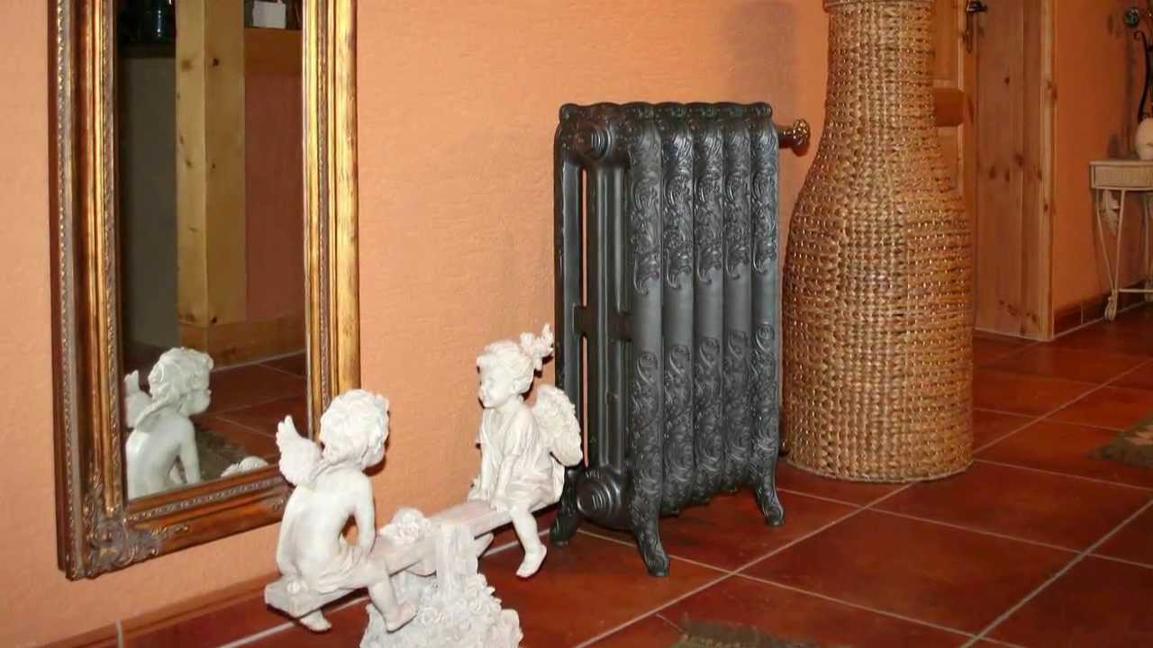 Чугунные радиаторы в ретро-стиле.