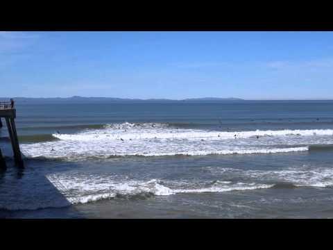 Huntington Beach Surf & Kite Flying, 3/9/2014