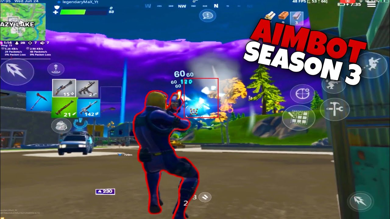 How To Get Aimbot On Fortnite Mobile Free How To Get Aimbot In Fortnite Mobile Chapter 2 Season 3 Youtube