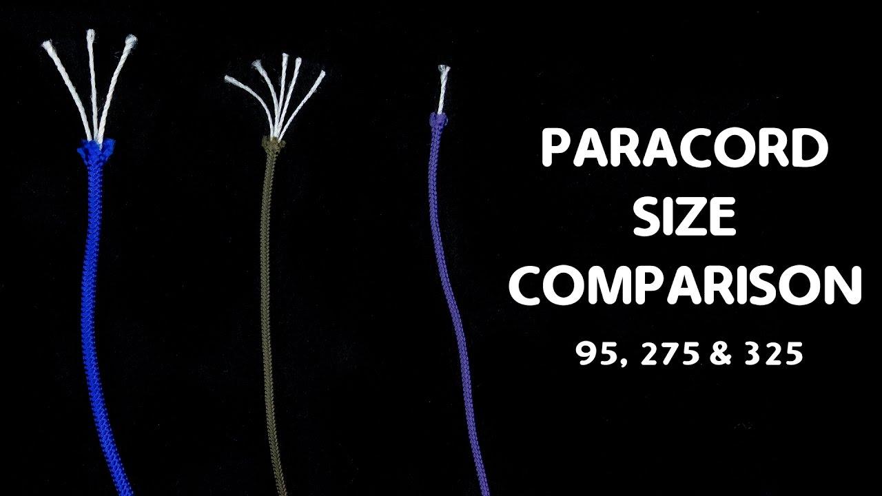 paracord size comparison part 2 youtube