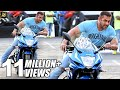 Salman Khan Sports Bike STUNT Encouragement On Mumbai Roads