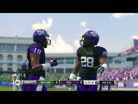 NCAA Football 14 20172018 Season Baylor Bears vs TCU Horned Frogs