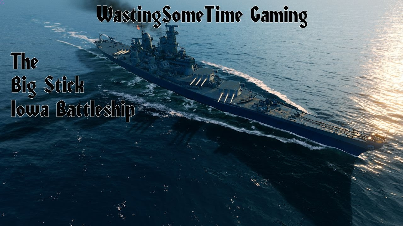 iowa battleship world of warships game with 7 destroyed