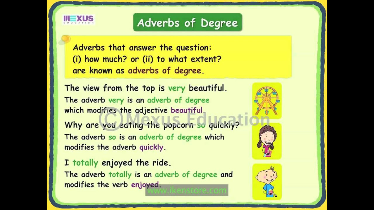 Worksheet List Of Adverbs For Kids adverbs of degree youtube degree