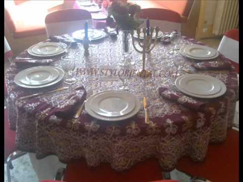 decor mariage oriental art de table youtube. Black Bedroom Furniture Sets. Home Design Ideas