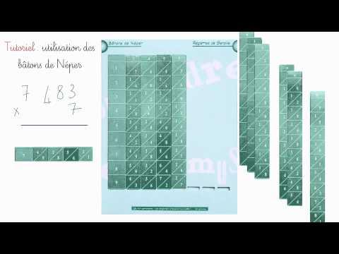 Tutoriel bâtons de Neper