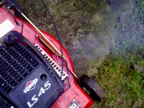 Ls45 Briggs And Stratton Lawn Mower Cold Start Youtube