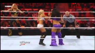 wwe raw 6 6 11 kelly kelly beth phoenix vs the bella twins