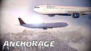 FSX - Delta A330 to Anchorage, Alaska (Long Edit)