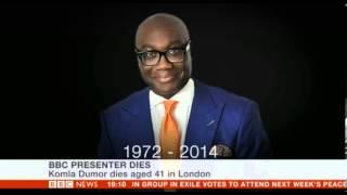 BBC Ghanain News Reader Komla Dumor dies January 18 2014, aged 41