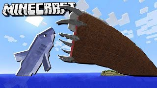 GIANT JAWS SHARK vs. THE UNKILLABLE MOB in Minecraft