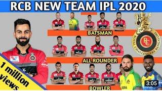 IPL  2020 - RCB Final squad   Royal Challengers Bangalore New Team VIVO IPL 2020
