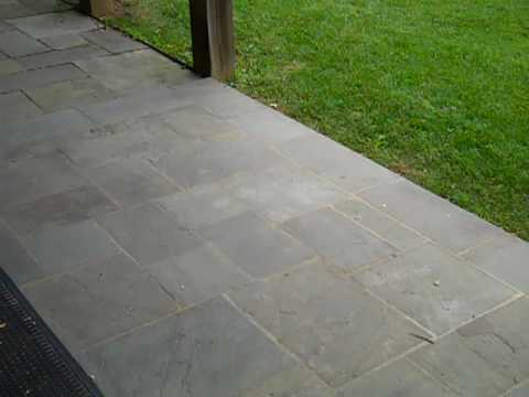 Wet Laid Vs Dry Laid Flagstone Mp4 Youtube