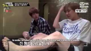 jin and jhope s unstoppable laugh from ep 6 of ahl