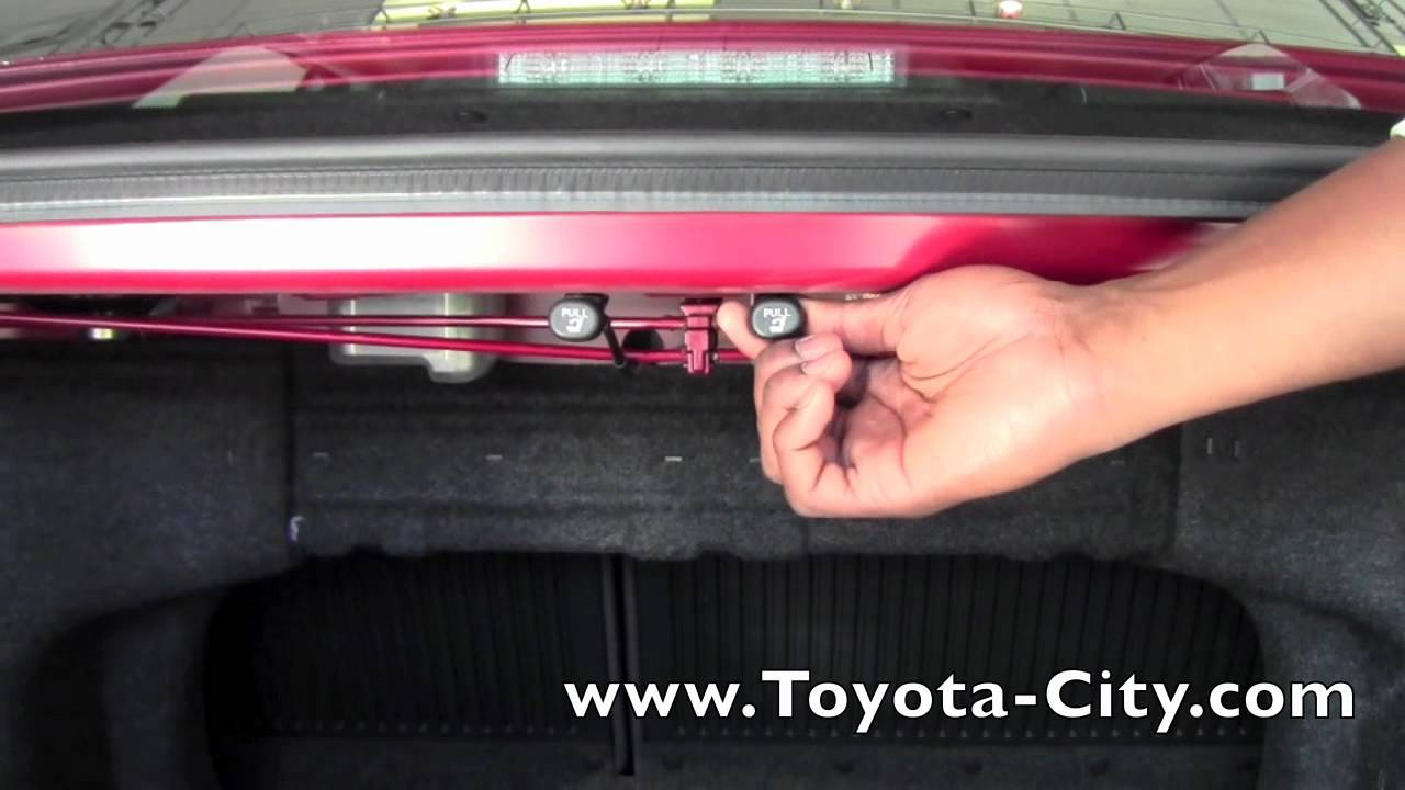 2012 Toyota Camry Rear Seat Fold Down How To By