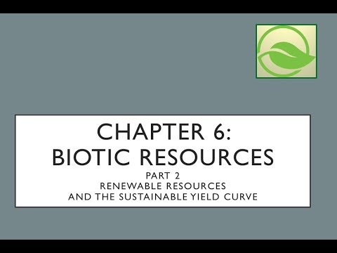 Ecological Economics: Chapter 6 Biotic Resources - PART 2