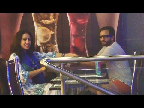 Saif Ali Khan ENJOYS Dinner With Daughter Sara - EXCLUSIVE