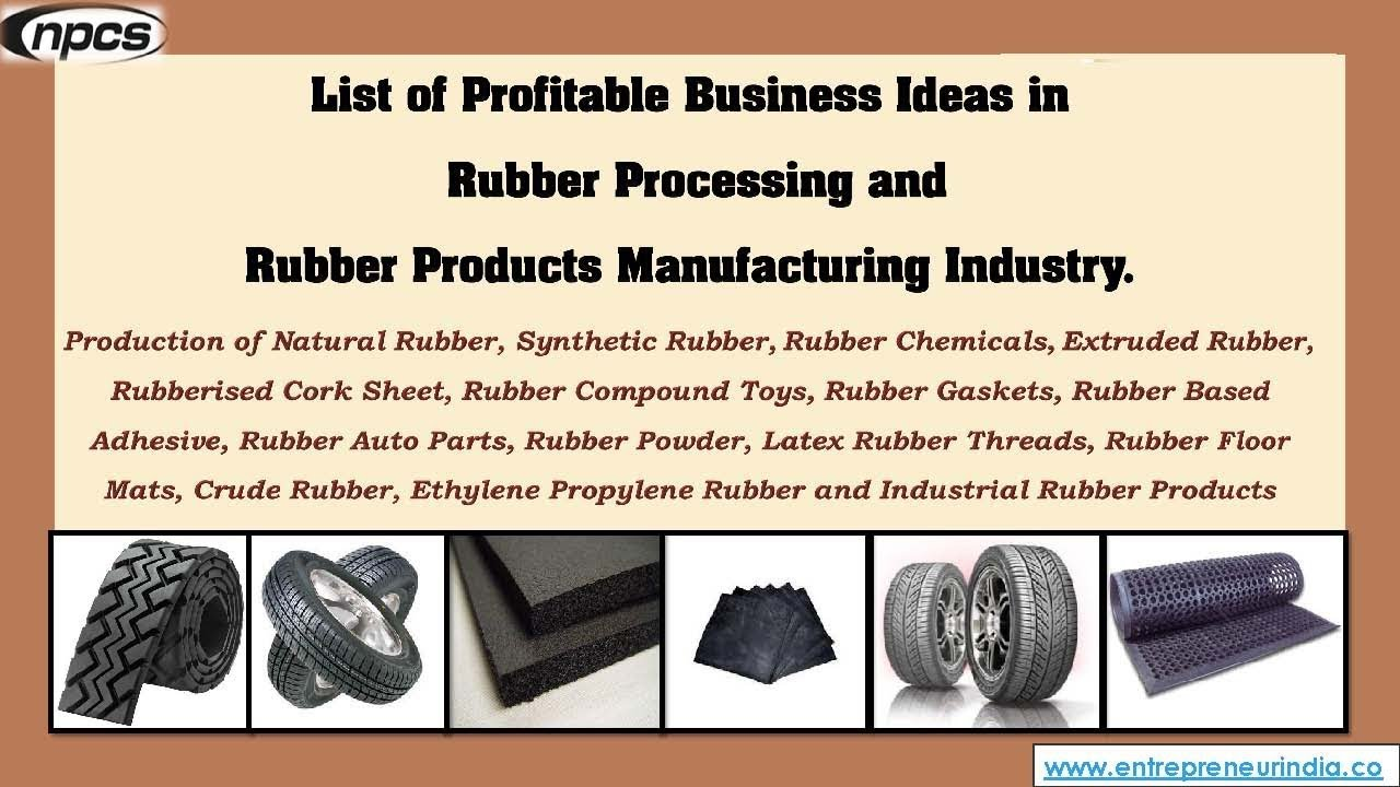 Rubber Processing and Rubber Products Manufacturing Projects - YouTube