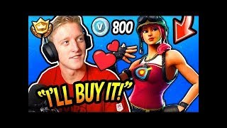Tfue finally BUYS the NEW BULLSEYE SKIN | Fortnite